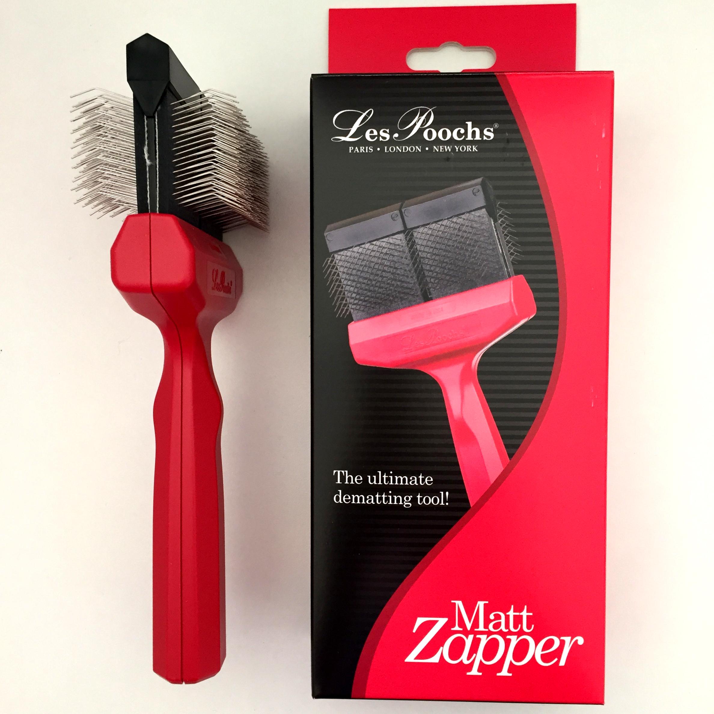 c5060 - Les Poochs brush Matzapper borstel, large (red)