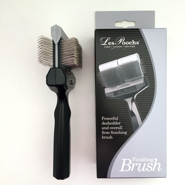 c5063 - Les Poochs brush Coat Grabber, borstel, large (silver)