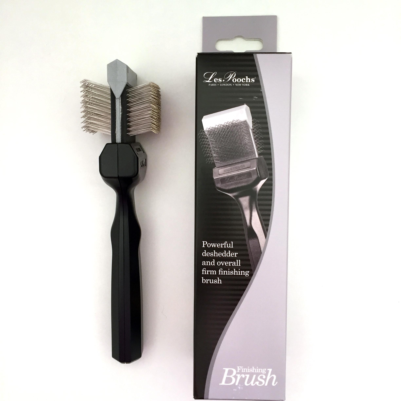 c5066 - Les Poochs brush Coat Grabber, borstel, small (silver)