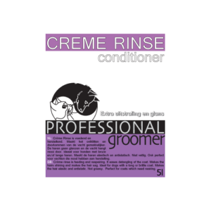 balsem, Creme Rince, Professional Groomer 5L