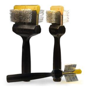 Les Poochs brush, Coat Grabber, borstel,  large (gold)