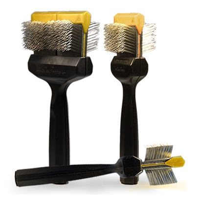 Les Poochs brush, Coat Grabber, borstel,  large (gold)