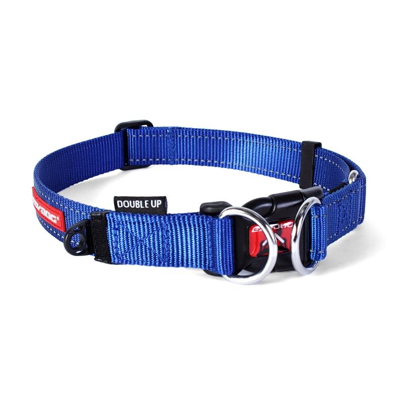 c6742 - EzyDog Double Up halsband, blauw