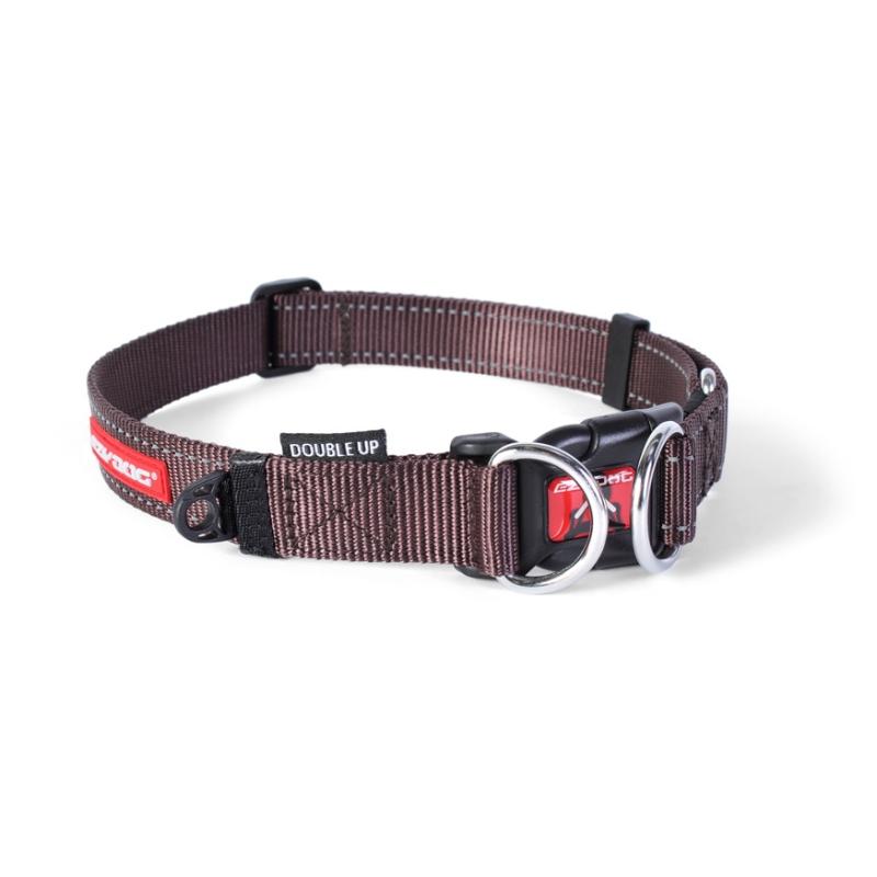 c6744 - EzyDog Double Up halsband, bruin