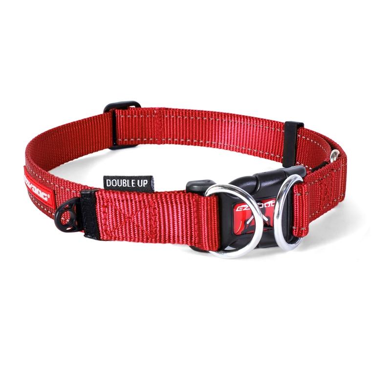 c6745 - EzyDog Double Up halsband, rood