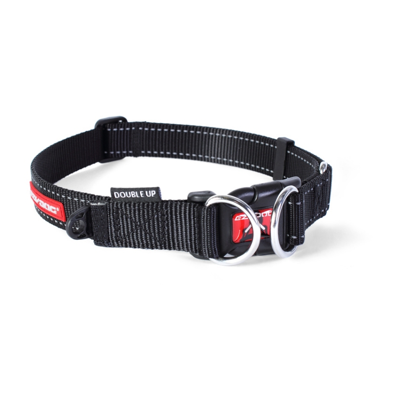 c6746 - EzyDog Double Up halsband, zwart