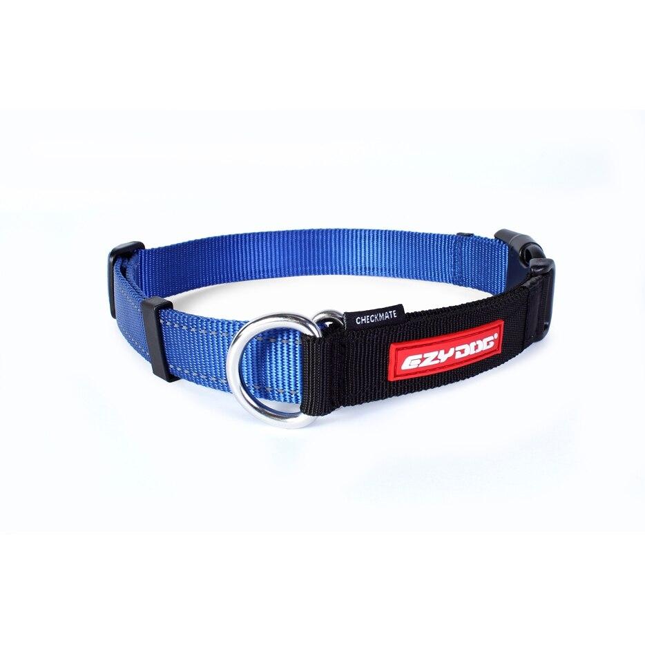 c6754 - EzyDog Checkmate Martingale halsband, blauw